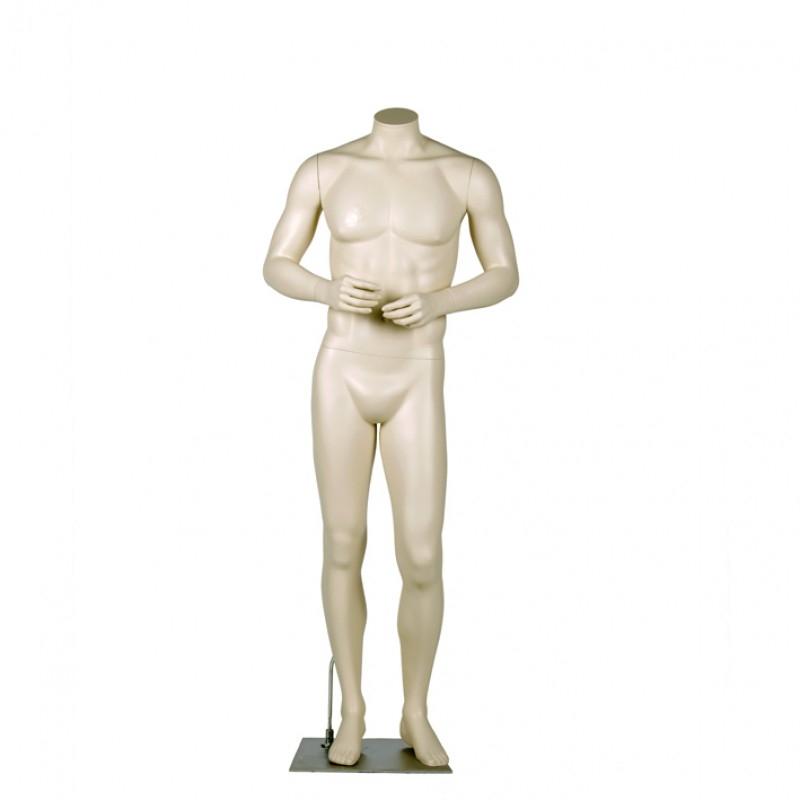 Variable Herrenfigur – kopflos oder mit Kopf – Arme vorm Körper. Darrol 700-Serie – mit Neck-Lock System